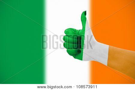 Flag Of Ireland On Female's Hand