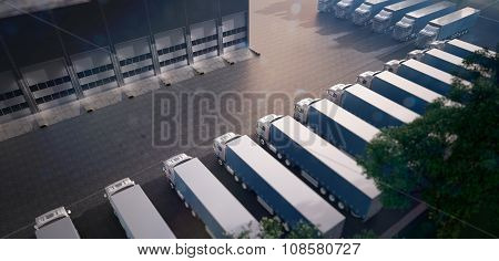 Truck parking. Freight