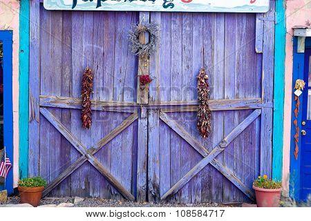 Distinctive Lavender Colored Door In New Mexico