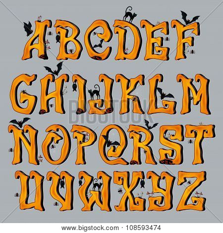 Spooky Halloween Font Capital Letters