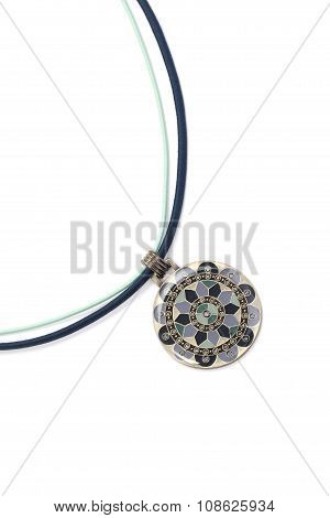 Pendant with floral ornament