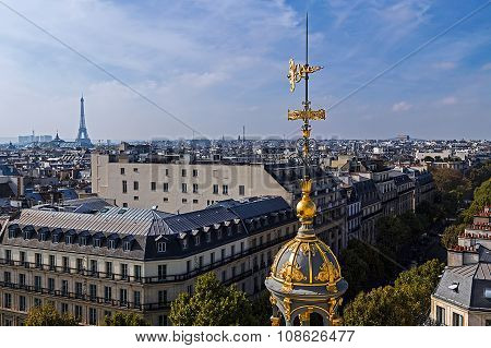Aerial View From The Terrace Of Store Printemps, Paris, France