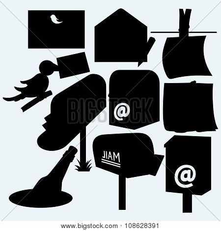 Mail icons and US post office box