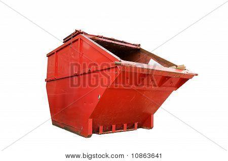 Red Industrial Waste Skip