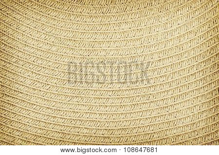 Woven straw background or texture. Brown color.