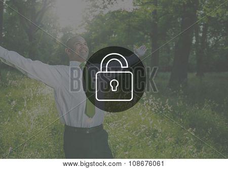Unlock Free Liberate Unlocked Concept