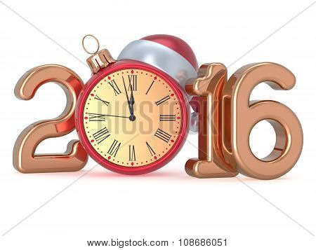 New 2016 Year's Eve Christmas Ball Clock Decoration Date