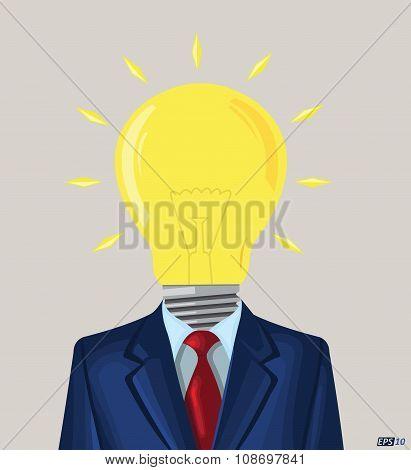 Business Idea, Idea Bulb, Creativity, Creative Idea, Innovation or Uniqueness