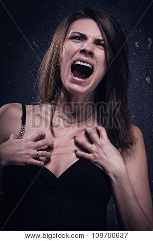 Screaming Crazy Woman