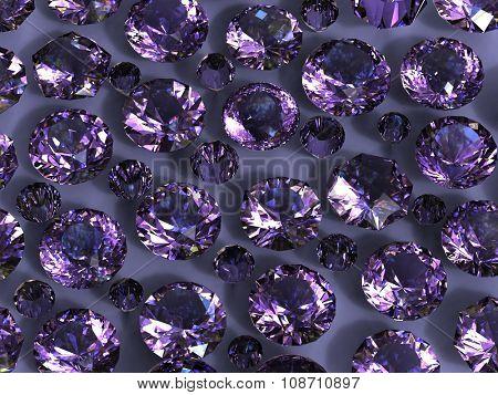 Luxury Jewelry Background with gemstones. Diamond. Amethyst poster