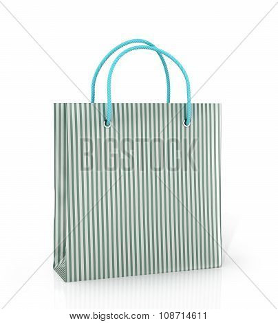 Coloured Paper Bag On A White Background.