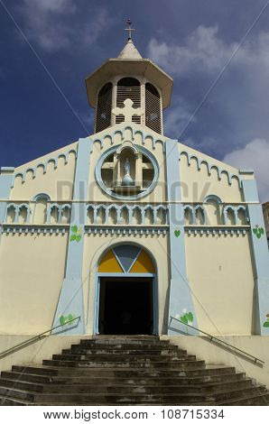 France the picturesque church of Riviere Pilote in Martinique poster