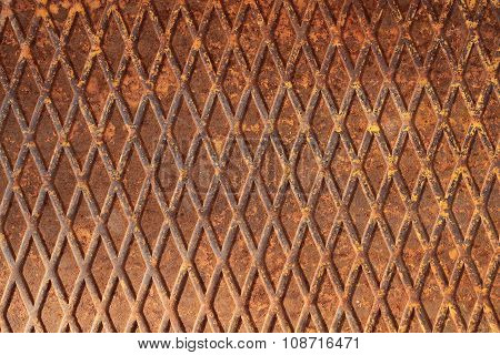 Rusty metal sheet - textured metal background with non slip repetitive pattern