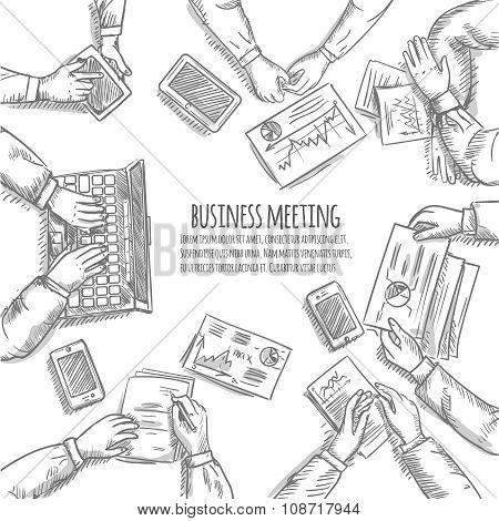 Business Meeting Sketch