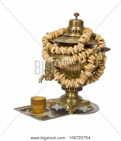 An Old Rustic Utensils, Russian Samovar