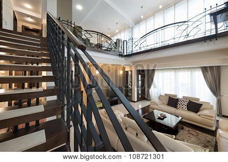 Specious Bright Living Room Interior