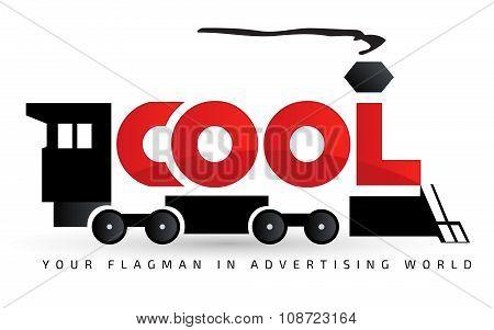 Locomotive logo template