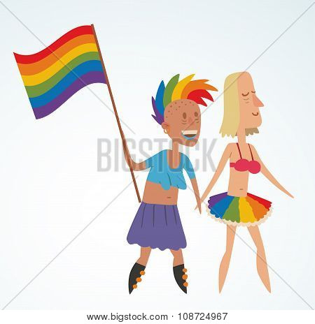 Homosexual gay and lesbian people vector
