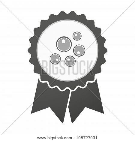 Vector Badge Icon With Oocytes