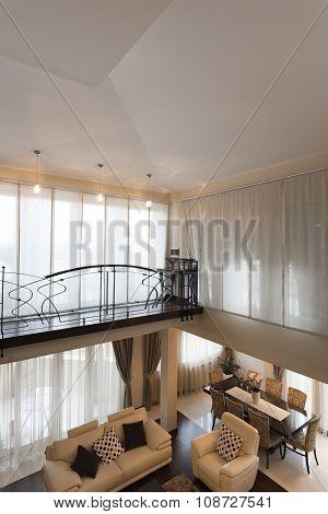 Interior Of A Luxury Multilevel Living Room