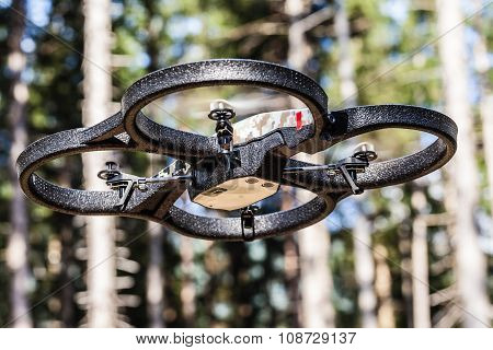 Drone Flying Through Trees