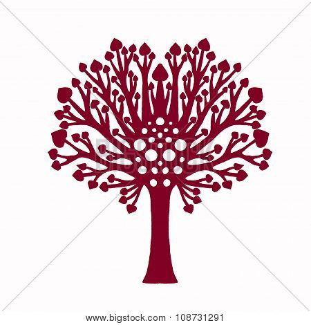 Decorative family tree plant