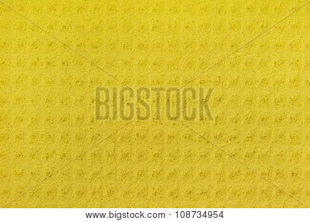 Yellow cellulose sponge