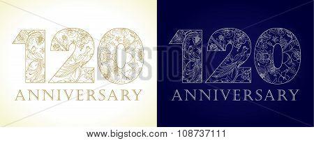 120 anniversary vintage logo.