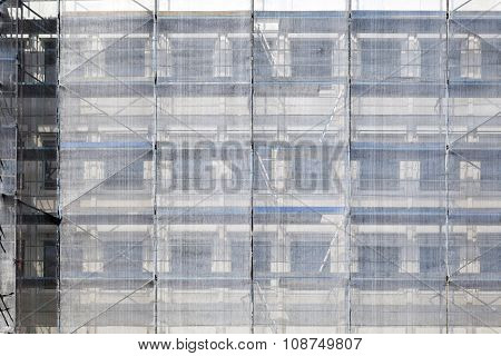 Scaffold At A House Facade