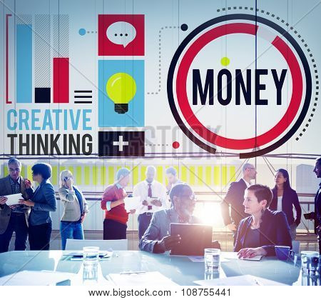 Money Accounting Banking Economy Exchange Wealth Concept poster