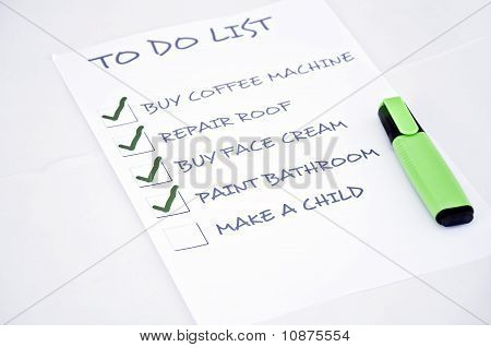 To do list with make a child poster