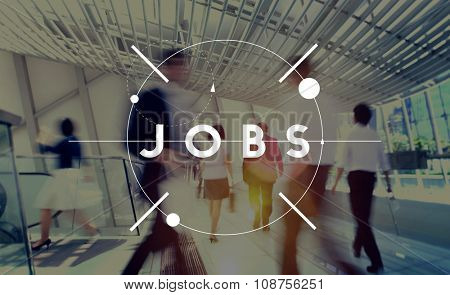 Job Career Employment Occupation Recruitment Concept poster