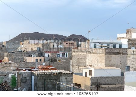 El Fraile Neighbourhood. Tenerife, Canary Islands. Spain