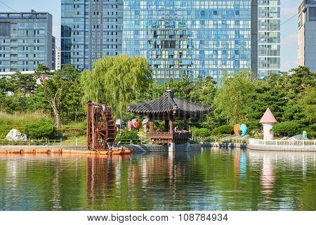 Landscape Of Songdo Central Park