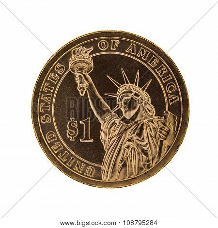 One dollar coin - Statue of  Liberty