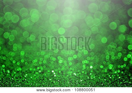 Green Christmas Sparkle Or St Patrick's Day Party Invitation