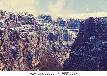Vikos gorge of Pindos mountains at Epirus in Greec