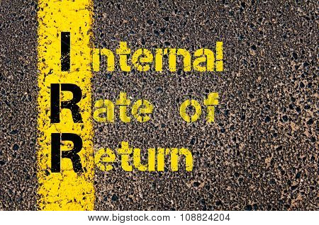 Business Acronym Irr As Internal Rate Of Return