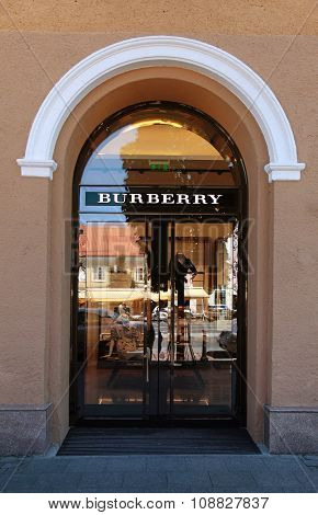 The Burberry Shop In Vilnius, Lithuania.