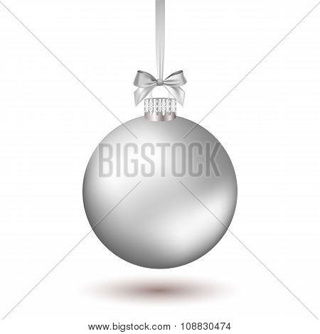 Christmas ball with ribbon.
