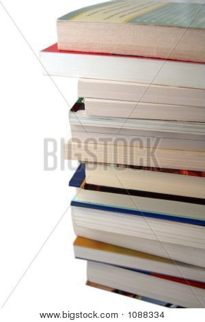 Pile Of College Text Books