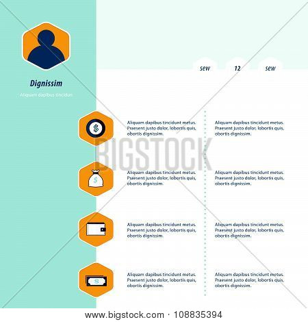 Infographic Design Bule, Yellow Color