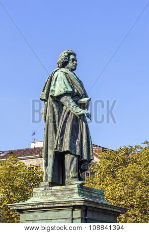 The Beethoven Monument On The Munsterplatz In Bonn