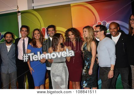 LOS ANGELES - NOV 17:  Telenovela Cast at the Press Junket For NBC's