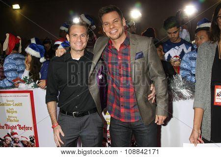 LOS ANGELES - NOV 17:  Matt Weiss, Theo Von at the
