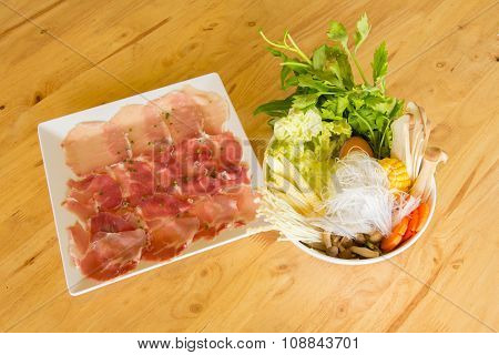 meat and vegetable