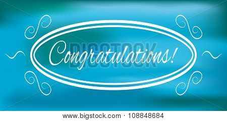 Congratulations banner on a blue background vector illustration poster