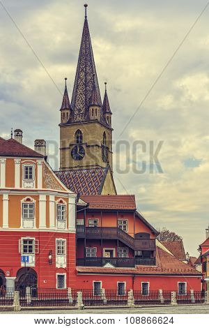 Evangelic Church Steeple, Sibiu, Romania