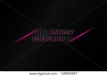 Metallic black abstract vector background