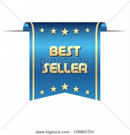 Premium vector best seller ribbon